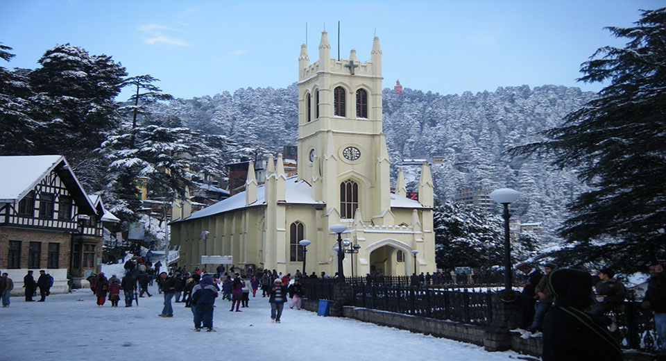 shimla ridge snow fall